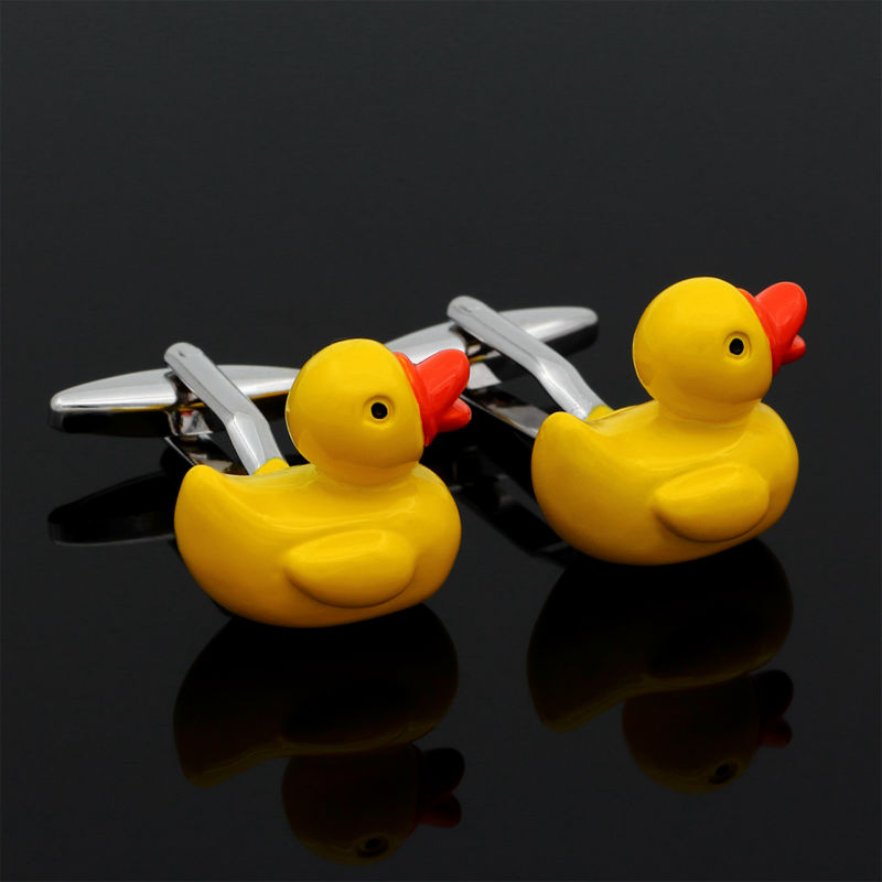 Yellow Rubber Duck Design Cufflinks Fancy Gifts Personalized Cuff ...
