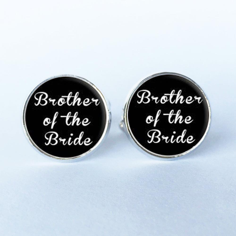 1Pair Wedding Cufflinks shirt Cufflinks round clip groom groomsmen ...